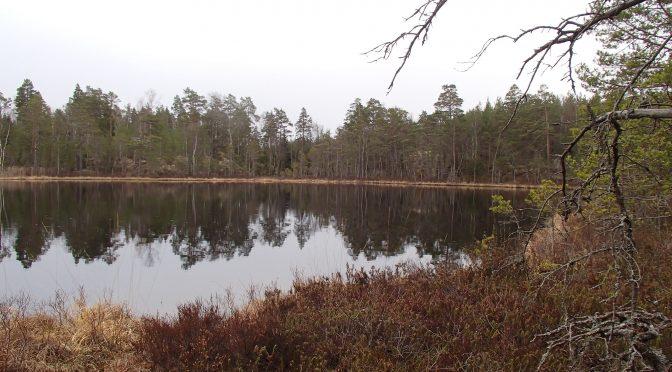 Vandring Sörmlandsleden 2016-04-16 Etapp 17 Harsjöhult – Finnsjön